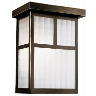 Millwood Pines Calhoun 1-Light Outdoor Flush Mount