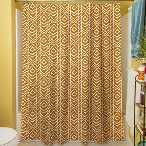 Sketched Ikat Shower Curtain