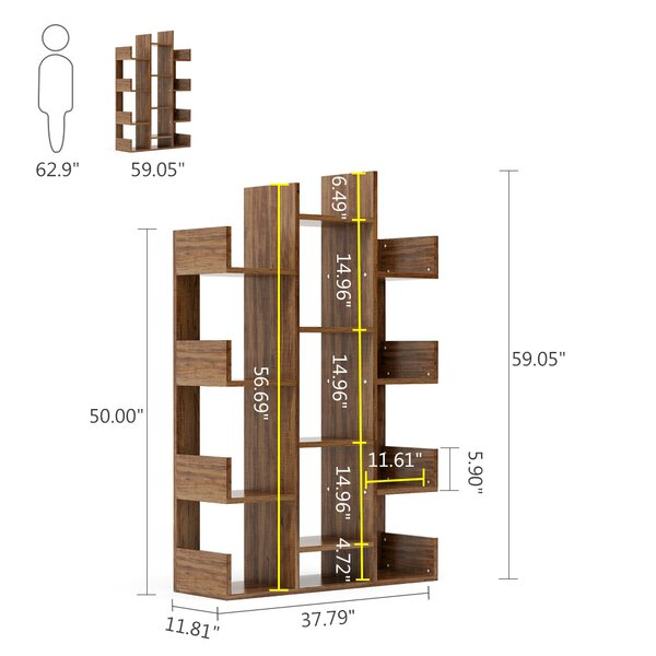 Latitude Run 59 H X 37 8 W Standard Bookcase Reviews Wayfair