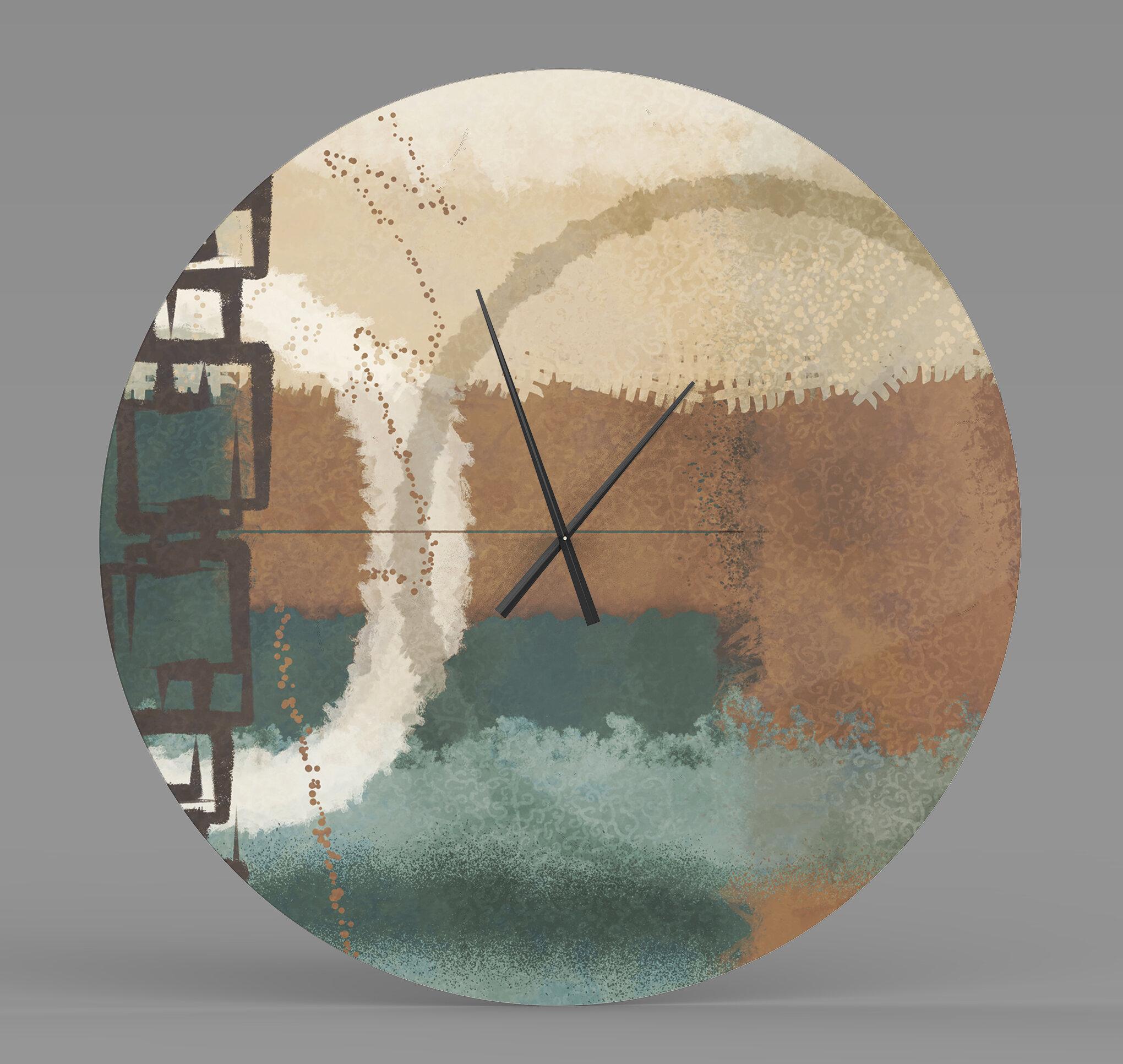 Latitude Run Eternal Substantive Abstract Metal Wall Clock Wayfair Ca