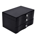 Wooden Jewellery Box Organizer With Mirror For Watches, Jewellery & Accessories