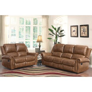 Darby Home Co Bitter Root 2 Piece Leather Living Room Set