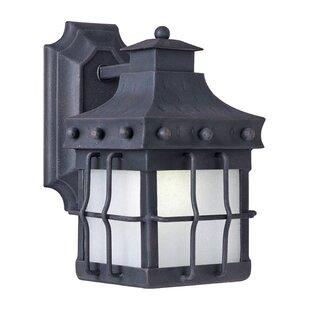 Harbiye 1-Light Outdoor Wall Lantern by Loon Peak