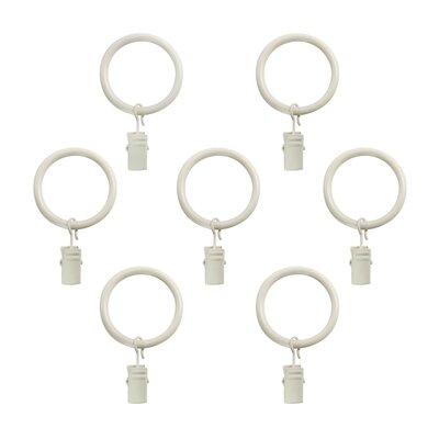 Andover Mills Von Clip Curtain Ring Finish: Warm White/Distressed White