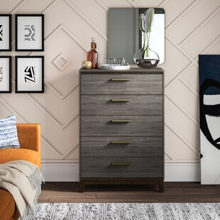 Laverock Contemporary 5 Drawers Accent Chest by Mercury Row