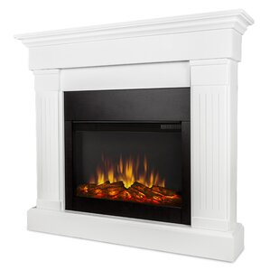 Slim Crawford Wall Mount Electric Fireplace by Real Flame