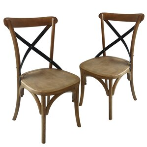 Maxence Solid Wood Dining Chair (Set of 2) by Laurel Foundry Modern Farmhouse