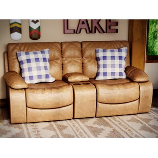 Grizzly Hill Double Motion Console Loveseat by Loon Peak Today Sale Only