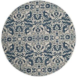 Montelimar Ivory/Blue Area Rug by Lark Manor