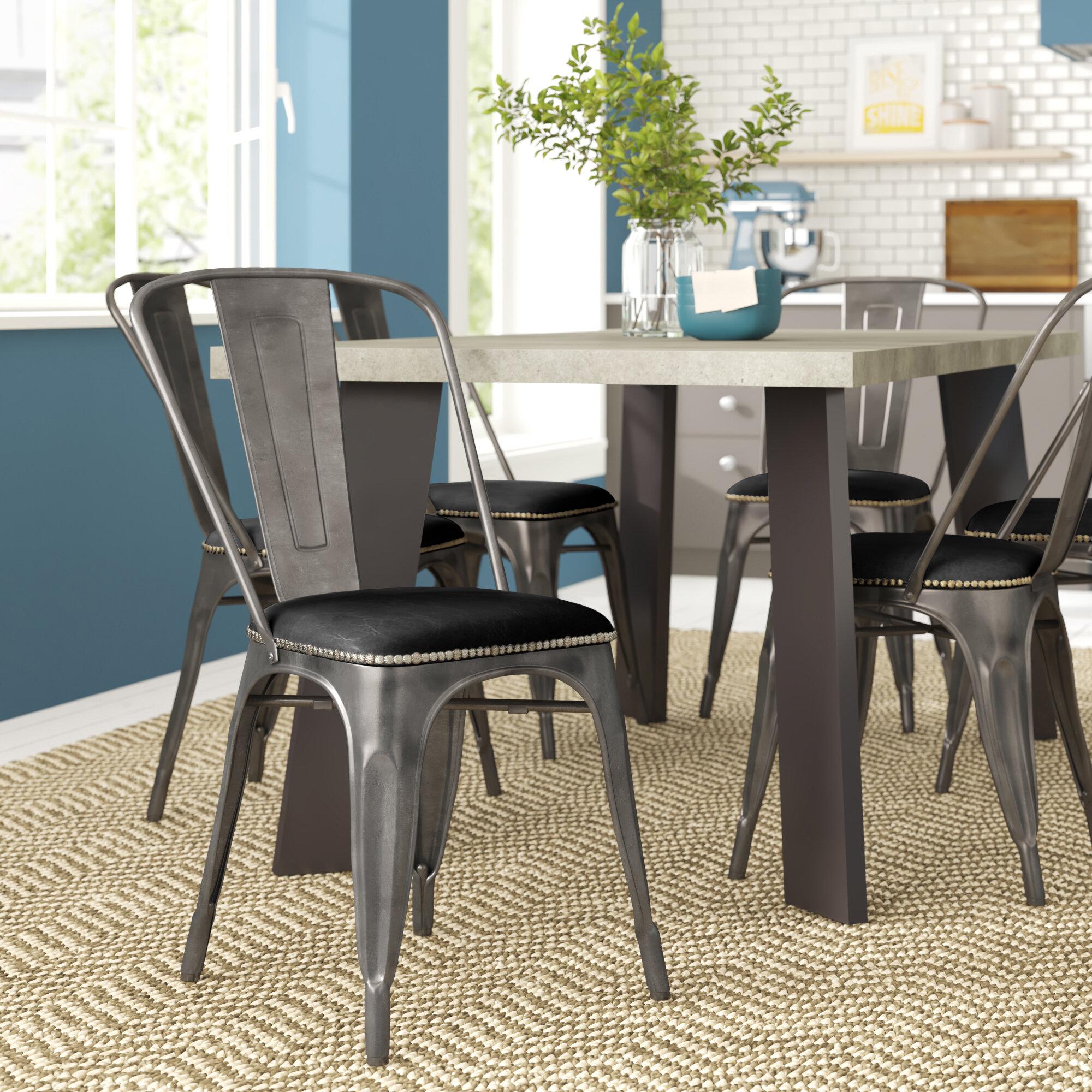 Zipcode Design Irvington Metal Slat Back Side Chair Reviews Wayfair