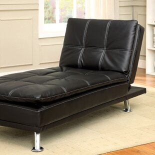 Latitude Run Ristaino Contemporary Leather Chaise Lounge
