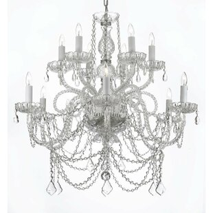 Linscott Swarovski 12-Light Candle Style Chandelier by Astoria Grand