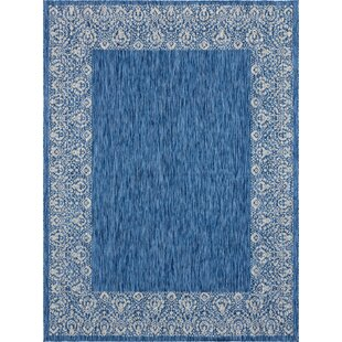 Redmond Power Loom Polypropylene Blue Indoor/Outdoor Area Rug