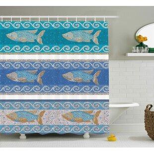 Look for Anton Marine Style Pattern Shower Curtain ByBloomsbury Market