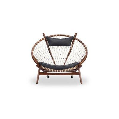 bc4b687e0 Deloris Papasan Chair Bungalow Rose Upholstery Black