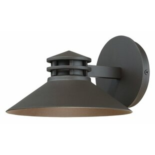 Price comparison Laforce 1-Light LED Outdoor Sconce By Winston Porter