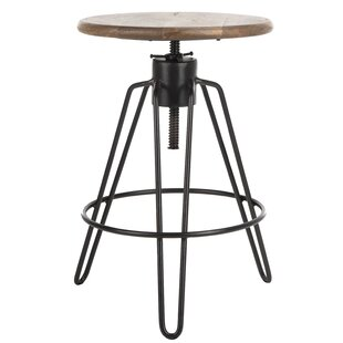 Elma Adjustable Height Bar Stool by Williston Forge