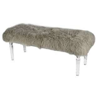 Everly Quinn Champney Soft to Touch Mongolian Bedroom Bench