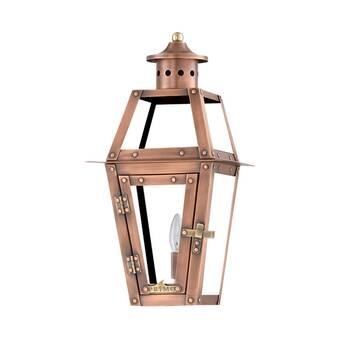 Primo Lanterns Beaux Aged Copper 2 Bulb 19 H Outdoor Wall Lantern Wayfair