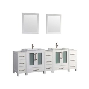 Larosa 108 Double Sink Bathroom Vanity Set with Mirror by Latitude Run