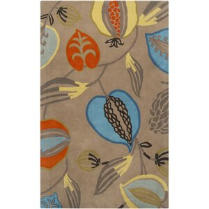 Harlequin Brindle Hand-Tufted Dark Beige Area Rug
