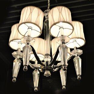 Rosdorf Park Roni 6-Light Shaded Chandelier