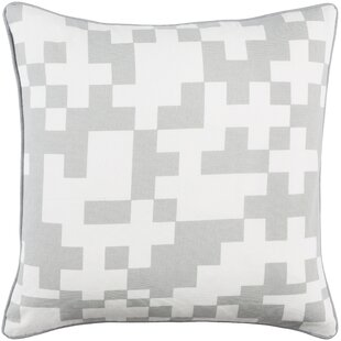 Antonia Contemporary Puzzle Cotton Throw Pillow Cover