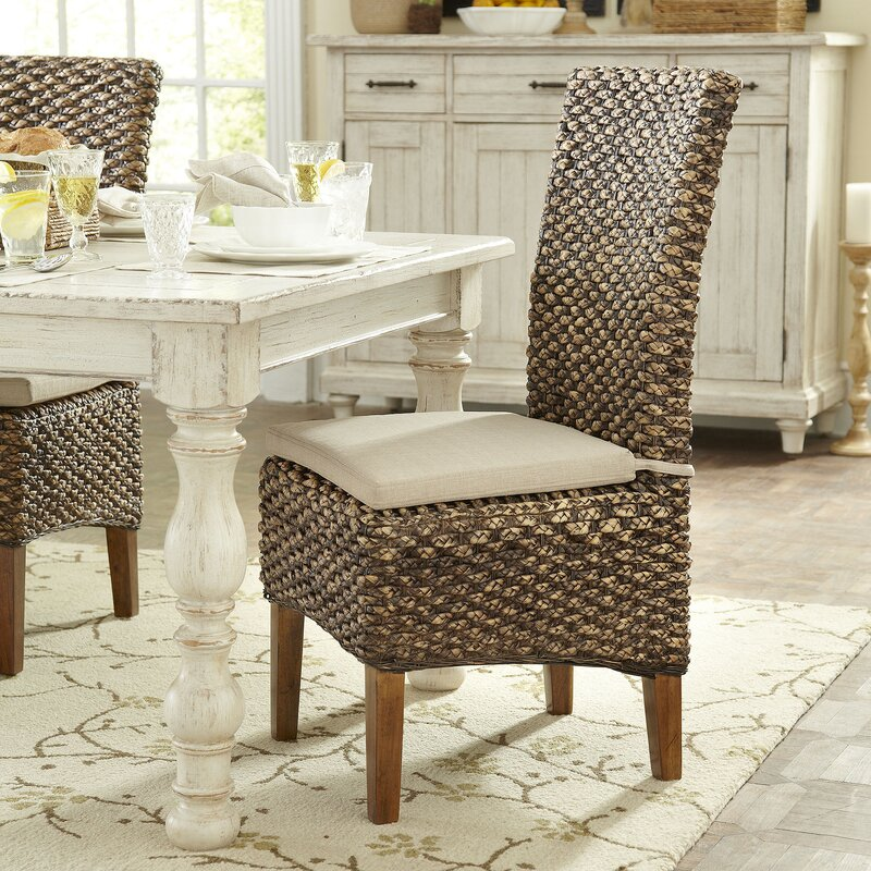 Woven Seagrass Side Chairs Birch Lane Reviews Wayfair Wicker Dining Room