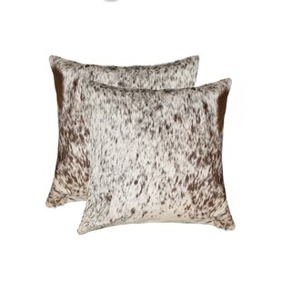 Graham Leather Throw Pillow (Set of 2)