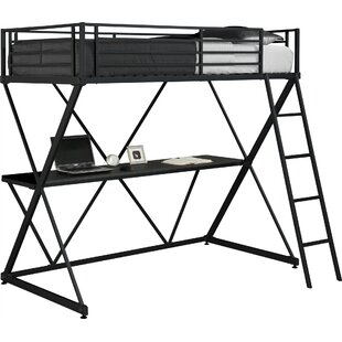 DHP X Shaped Twin Loft Bed
