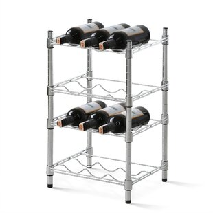 12 Bottle Floor Wine Rack by Rebrilliant