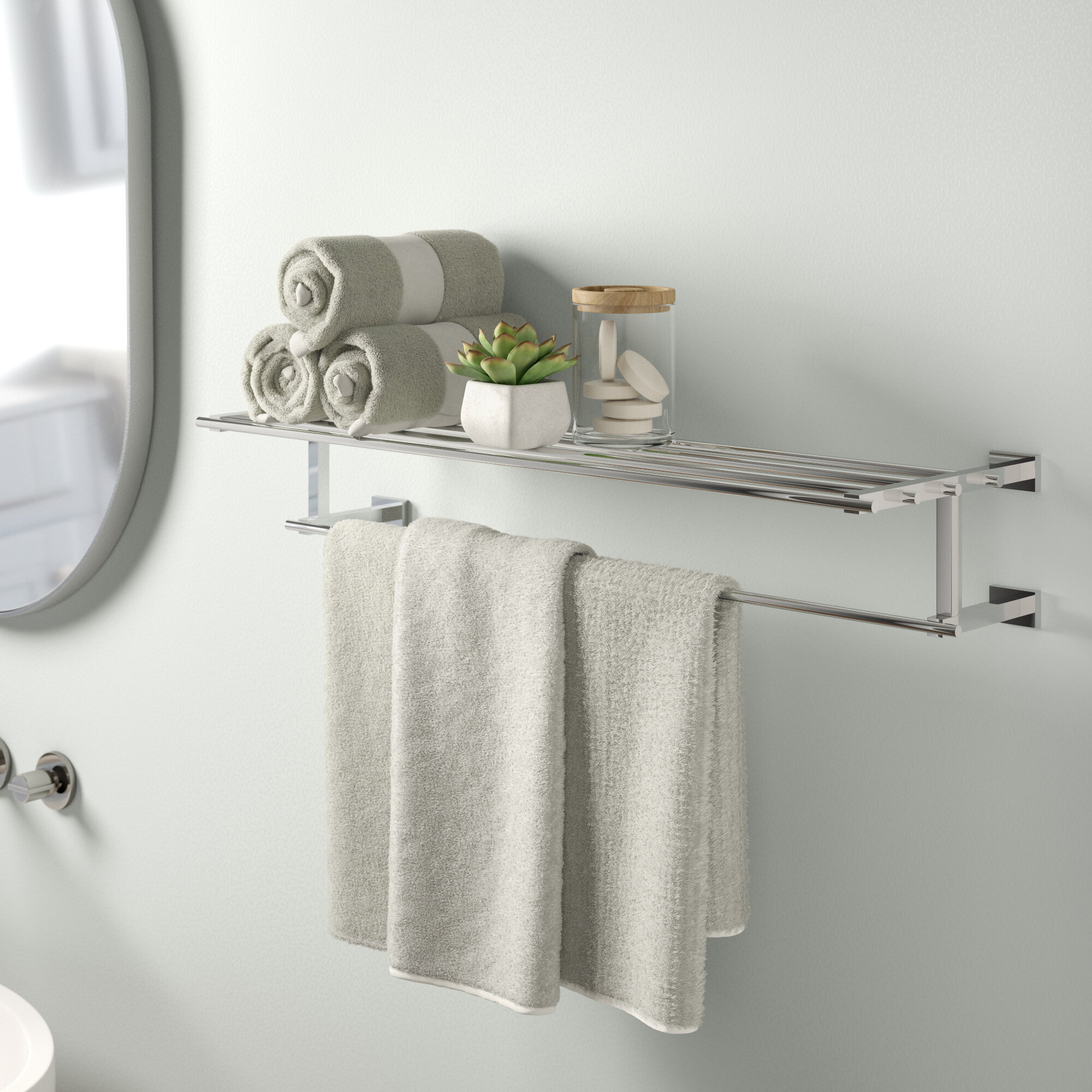 Grohe Essentials Cube Multi Towel 67cm Wall Mounted Towel Rack Reviews Wayfair Co Uk