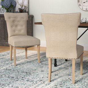 Schueller Upholstered Dining Chair (Set of 2) Laurel Foundry Modern Farmhouse