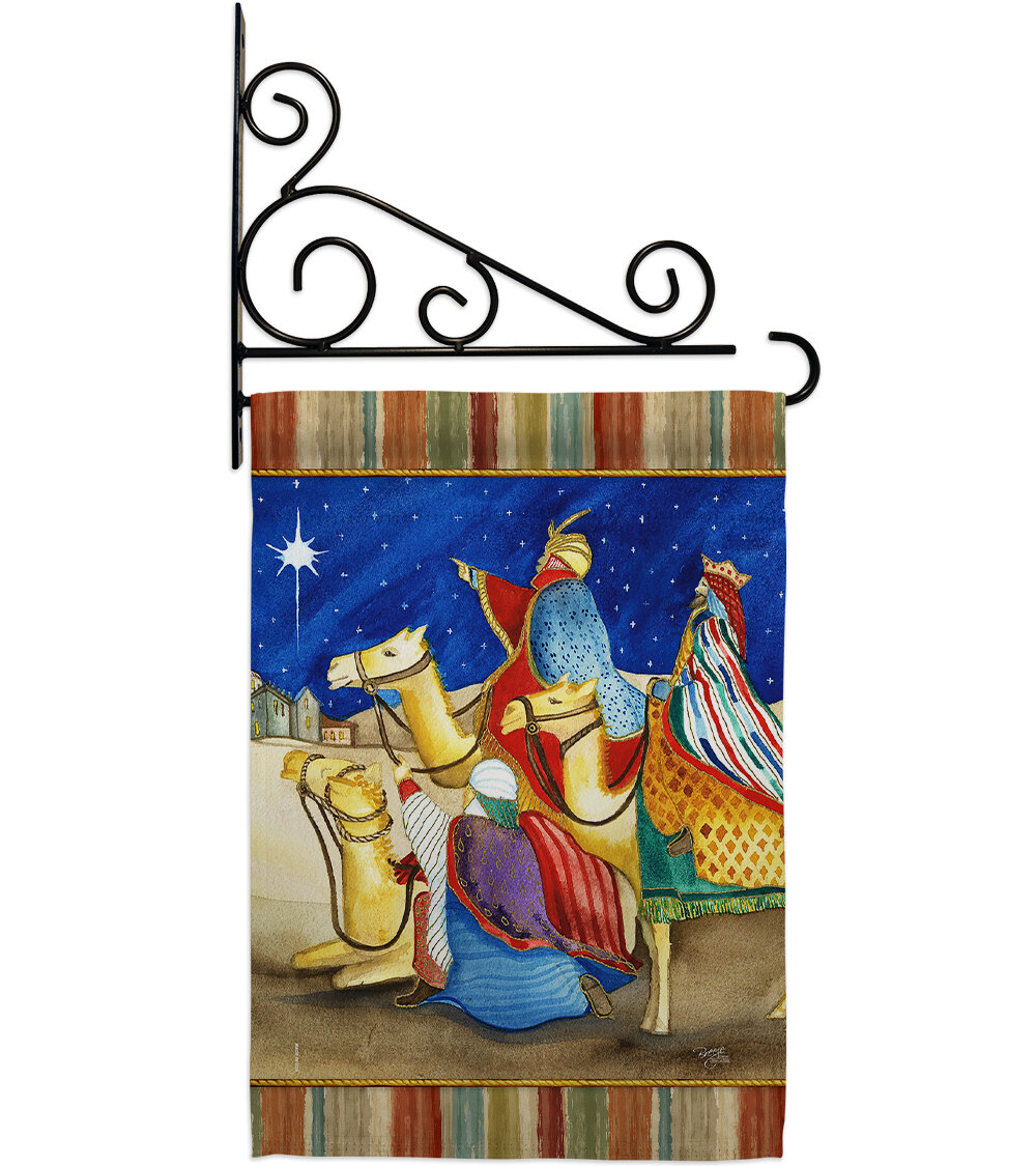Breeze Decor Three Kings 2 Sided Polyester 19 X 13 In Flag Set Wayfair