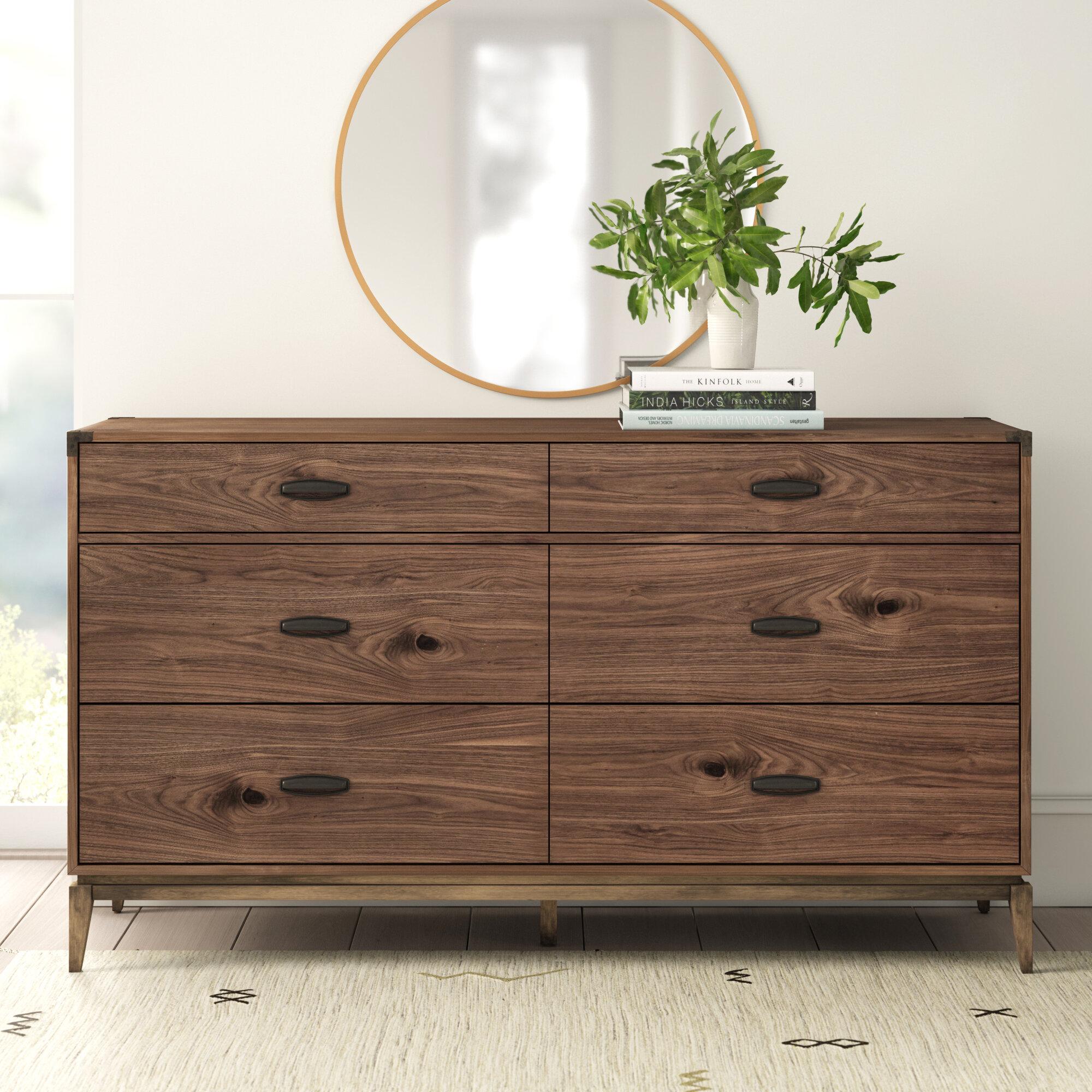 Ada 6 Drawer Double Dresser Reviews Allmodern