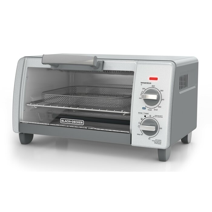 Black + Decker Crisp N' Bake Air Fry 4-Slice Toaster Oven
