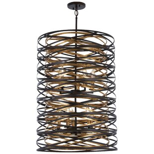 Compare prices Harnett 10-Light Cylinder Pendant By Brayden Studio
