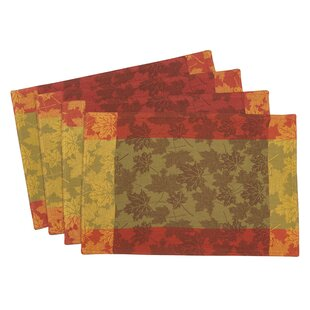 Arlington Fall Foliage Leaf Jacquard Placemat (Set of 4)