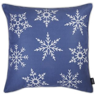 Hofmann Snowflakes Printed Pillow Cover