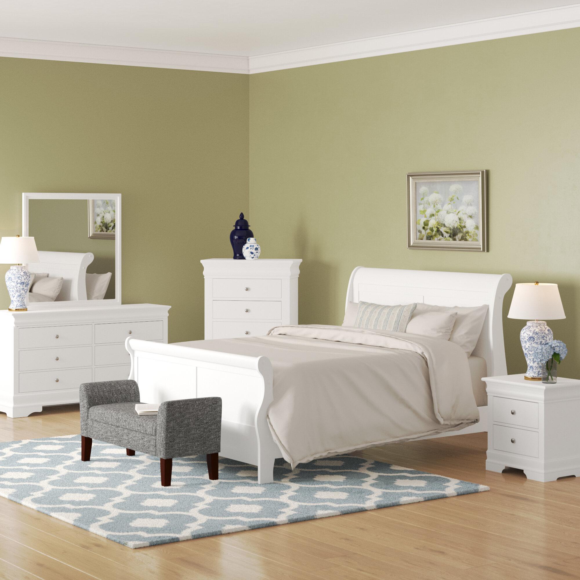 Alcott Hill Julie Queen Sleigh 5 Piece Bedroom Set | Wayfair