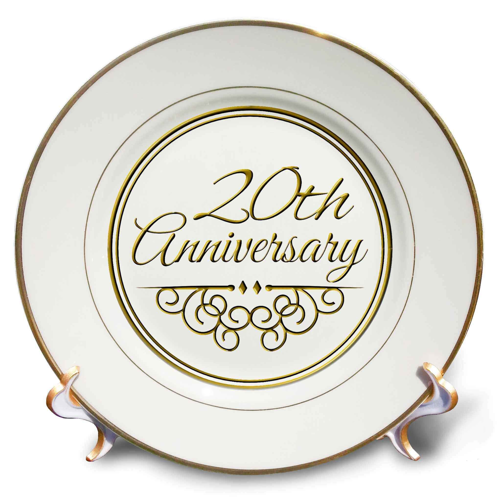 East Urban Home 20th Anniversary Gift For Celebrating Wedding Anniversaries 20 Years Married Together Porcelain Decorative Plate Wayfair