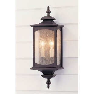 Abrahams 2-Light Outdoor Flush Mount by Charlton Home