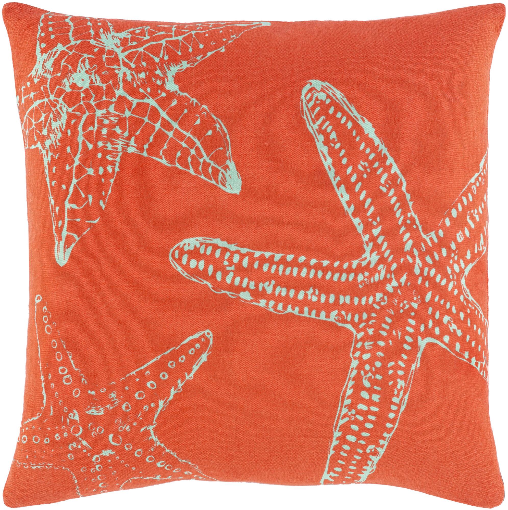 Rosecliff Heights Castlethorpe Sea Life Cotton Throw Pillow Wayfair