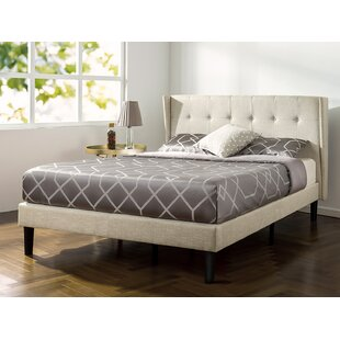 Wrought Studio Royer Button Tufted Wingback Upholstered Platform Bed