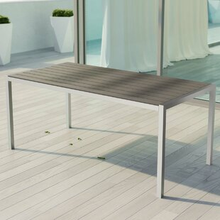Coline Outdoor Metal Patio Dining Table by Orren Ellis Fresh