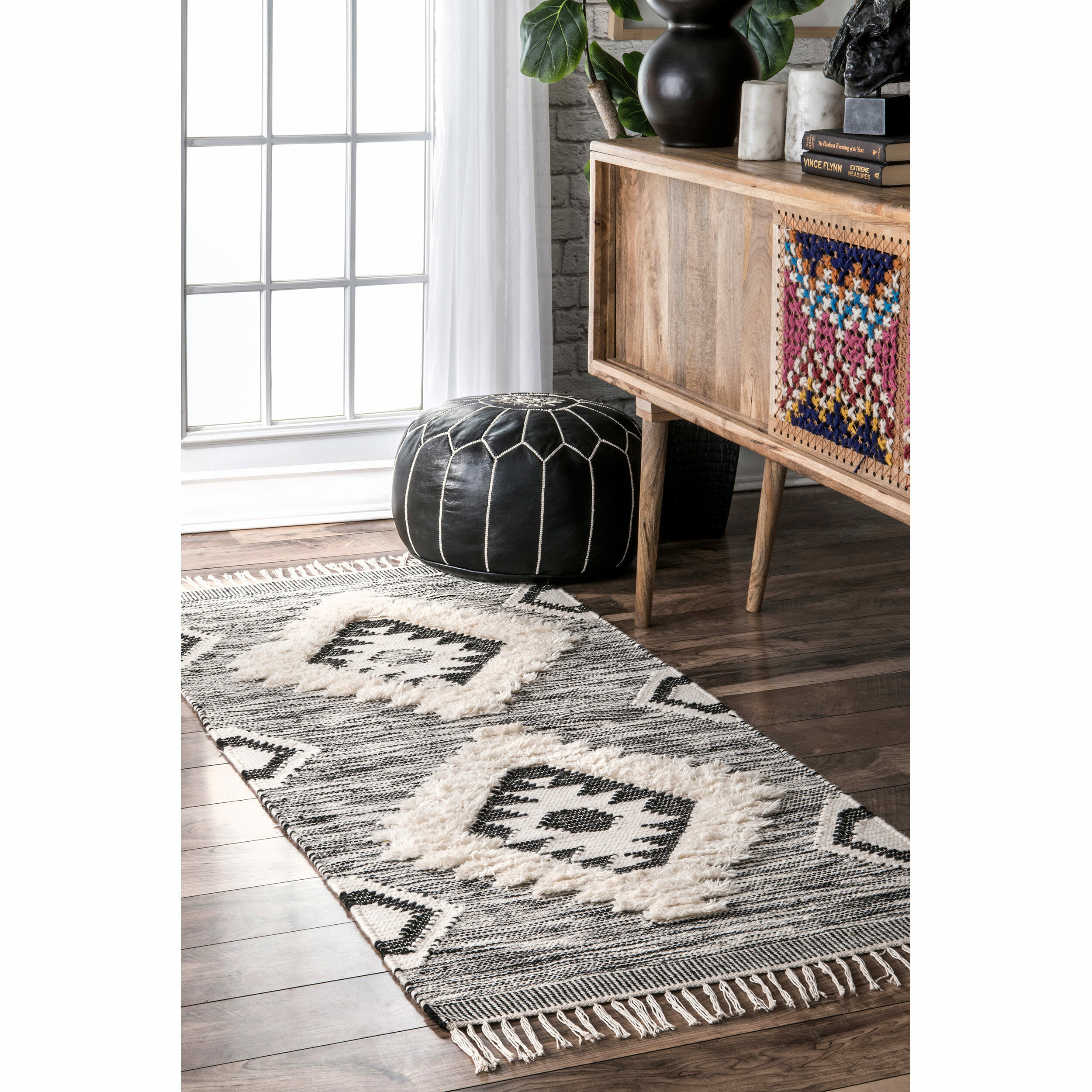 Luciana Hand Knotted Wool Gray Area Rug Reviews Allmodern