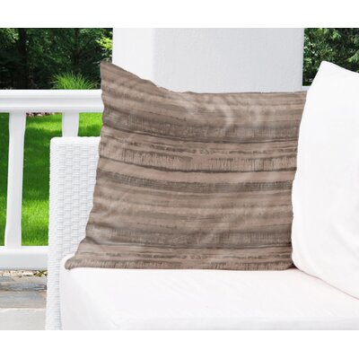 Elle Decor Washy Watercolor Stripe Indoor/Outdoor Euro Pillow Colour: Brown