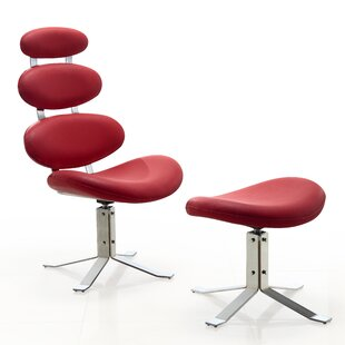 Orren Ellis Hentges Swivel Lounge Chair and Ottoman