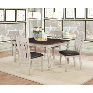 Mixon 5 Piece Drop Leaf Solid Wood Dining..
