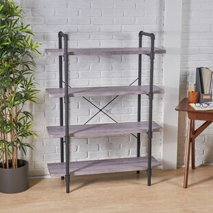 Anders Faux Wood 4 Tier Etagere Bookcase